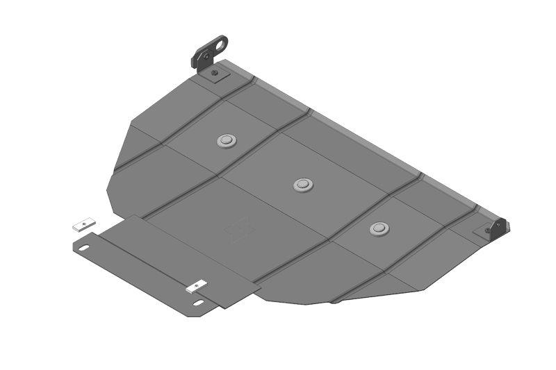 Защита картера двигателя, КПП Ford Escort 1995-2000 V=1,3, 1,6, 1,8, 2,0 (сталь 2 мм), MOTODOR00713