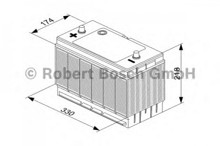 Аккумуляторная батарея Bosch T3, 12 В, 102 А/ч, 680 А, 0092T30330