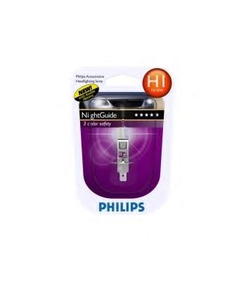 "Лампа ""NightGuide DoubleLife"", 12 В, 55 Вт, H1, P14,5s, PHILIPS, 12258 NGDLB1"