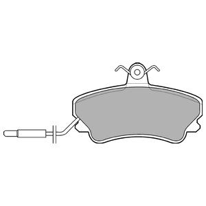 Колодки дисковые, DELPHI, LP822