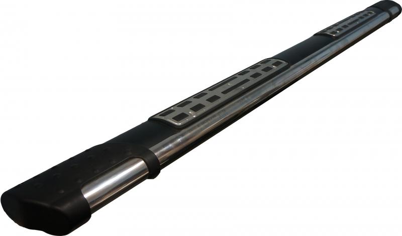 Пороги алюминиевые (Emerald Black) Kia Sportage (Киа Спортаж) (2005-2010), KISP771421