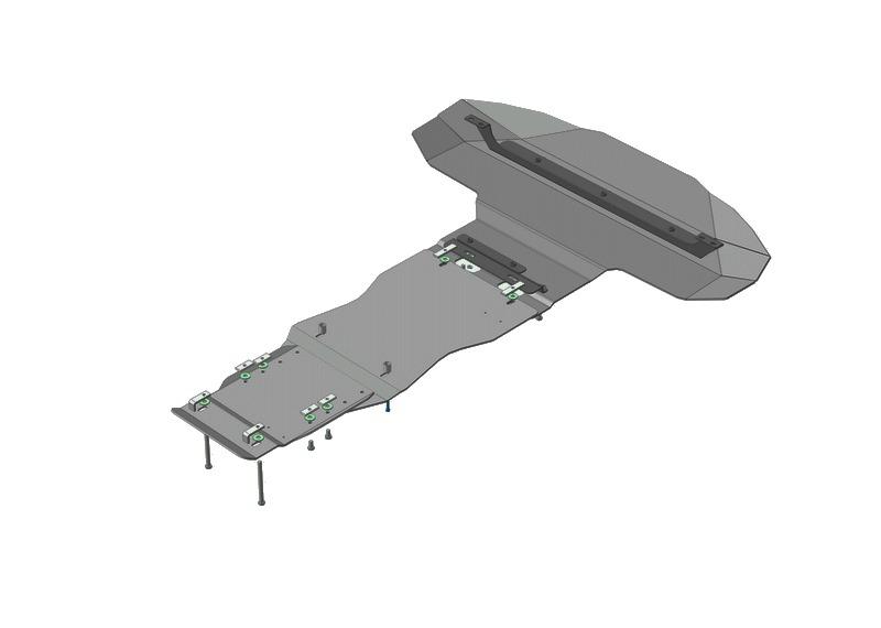 Защита картера двигателя, КПП, радиатора Audi Q7 2005-2015 V=3,0 TDI, (алюминий 5 мм), MOTODOR30108