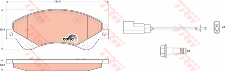 Колодки дисковые Передние, TRW, GDB1723