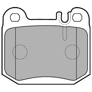 Колодки дисковые, DELPHI, LP1705