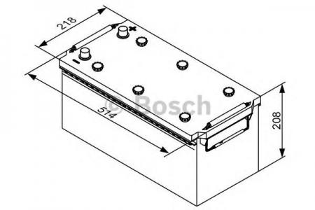 Аккумуляторная батарея Bosch T3, 12 В, 130 А/ч, 680 А, 0092T30430