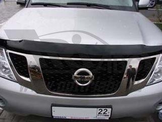 Дефлектор капота Nissan Patrol (2010-) (темный), SNIPATR1012