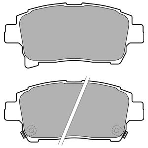 Колодки дисковые, DELPHI, LP1896