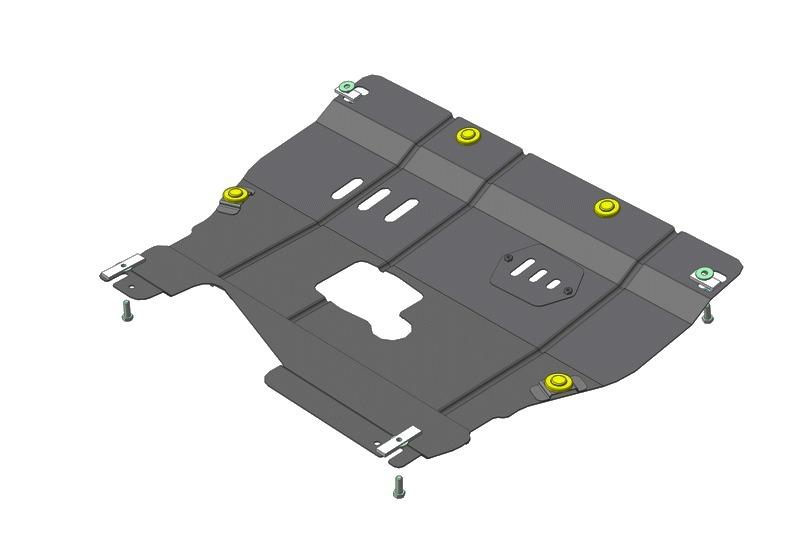 Защита картера двигателя, КПП ALFA ROMEO 166 V=2,0 (сталь 2 мм), MOTODOR05901