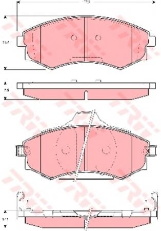 Колодки дисковые Передние, TRW, GDB3283