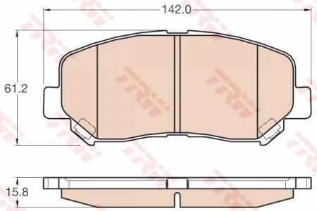 Колодки дисковые Передние, TRW, GDB3562