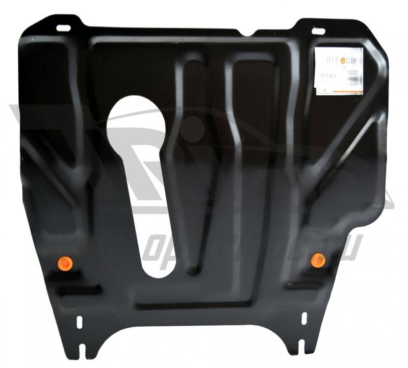 Защита картера двигателя и кпп Nissan Note (Ниссан Ноут) (V-1,4 МКПП, 2006-) штамп. (Сталь 1,8 мм),