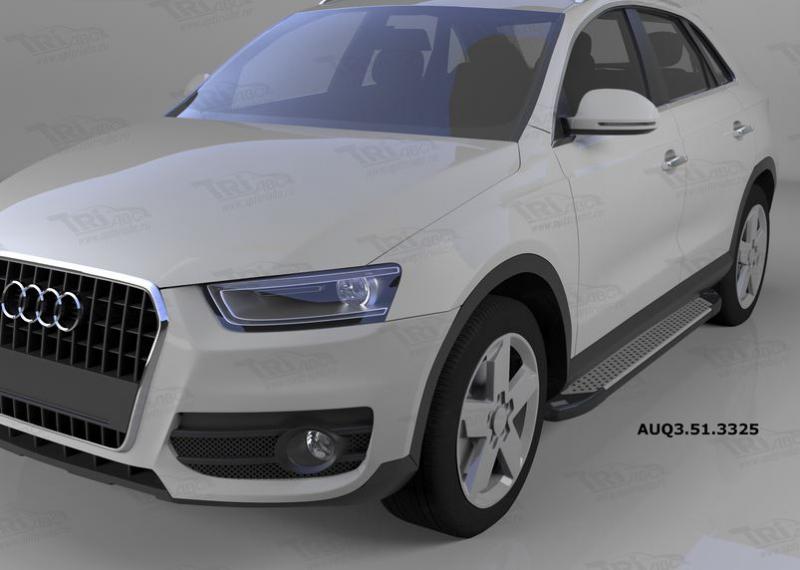 Пороги алюминиевые (Sapphire Silver) Audi (Ауди) Q3 (2011-), AUQ3513325