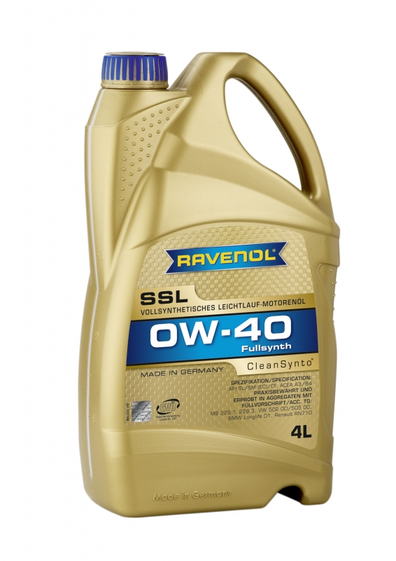 Моторное масло RAVENOL Super Synthetik Oel SSL, 0W-40, 4л, 4014835718791