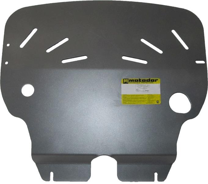 Защита картера двигателя, КПП Mini Cooper II 2006- V=1.6 (алюминий 5 мм), MOTODOR37001