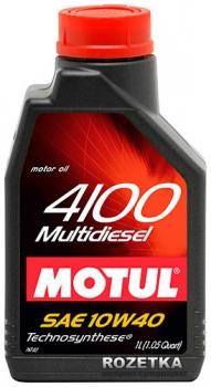Моторное масло MOTUL 4100 MULTIDIESEL, 10W-40, 1 л, 100257