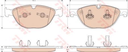 Колодки дисковые Передние, TRW, GDB1963