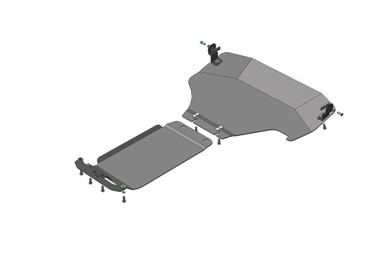 Защита картера двигателя, КПП Subaru XV 2012- V=1,6i (алюминий 5 мм), MOTODOR32228