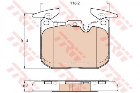 Колодки дисковые Передние, TRW, GDB1943