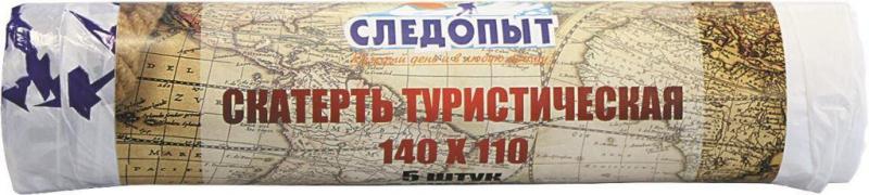 Скатерть туристическая Следопыт, 140х110 см, 5 шт. в рулоне, PFTC01