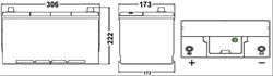 Аккумулятор Premium 12V 100Ah 850A 310х175х225 ETN1 EN клемы Крепление Korean B1