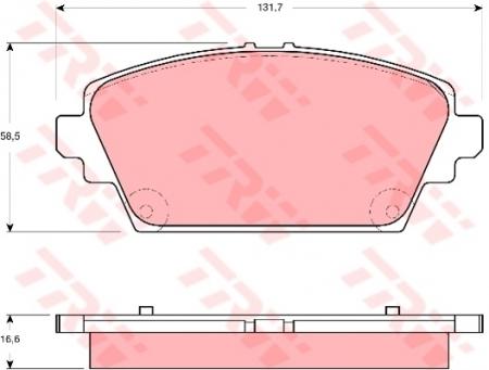 Колодки дисковые Передние, TRW, GDB3291