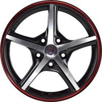 Колесный диск NZ SH667 6.5x16/4x98 D58.6 ET38 черный полированный с красной полосой по ободу (BKFRS)