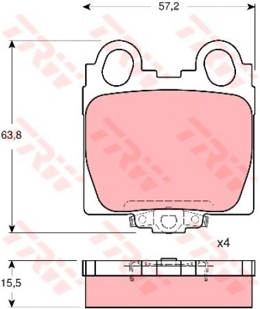 Колодки дисковые Задние, TRW, GDB3233