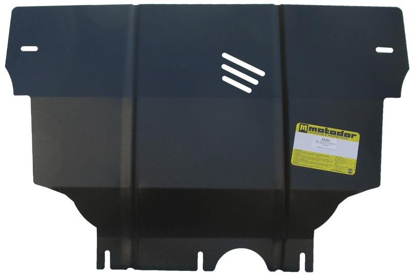 Защита картера двигателя, КПП Seat Leon 2013- Skoda Octavia 2013- V= 1,4 Т, 1,6 Т, 1,8Т (сталь 2 мм)
