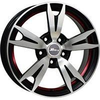 Колесный диск X-Race AF-03 7x18/5x114,3 D64.1 ET50 черный матовый полированный с красной полосой по