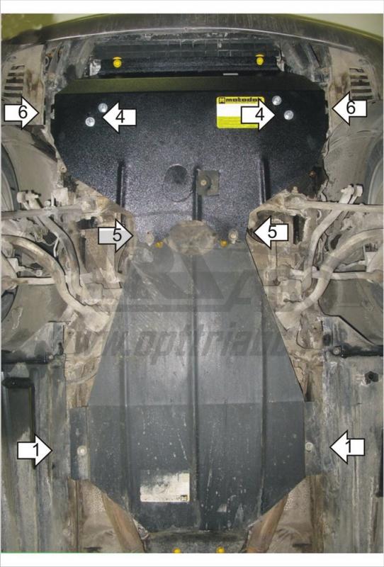 Защита картера двигателя, КПП BMW 5-й серии Touring кузов E39 (1996-2003) BMW 5-й серии кузов E39 (1