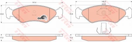 Колодки дисковые Передние, TRW, GDB1221