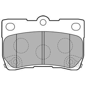 Колодки дисковые, DELPHI, LP2130