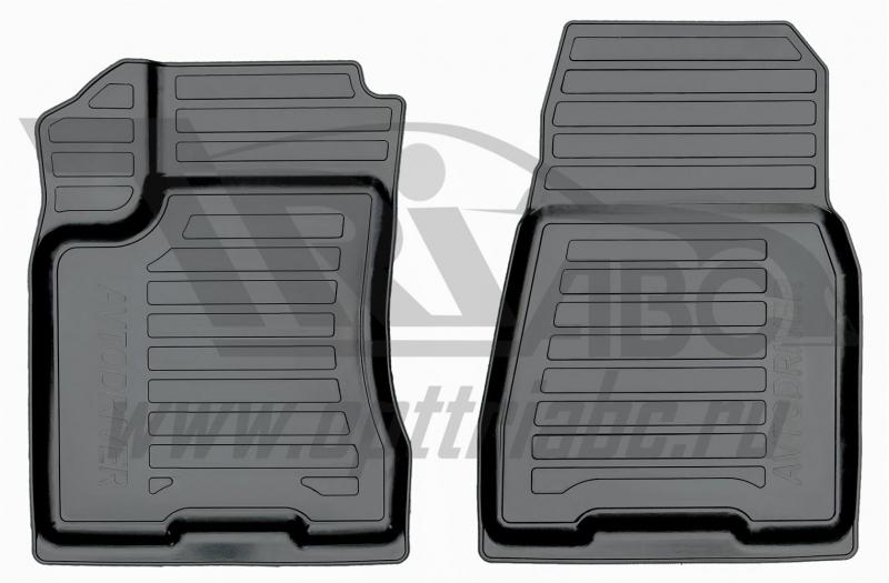 Коврики салона резиновые с бортиком для Nissan X-Trail (2007-2014) (2 передних), ADRAVG1812