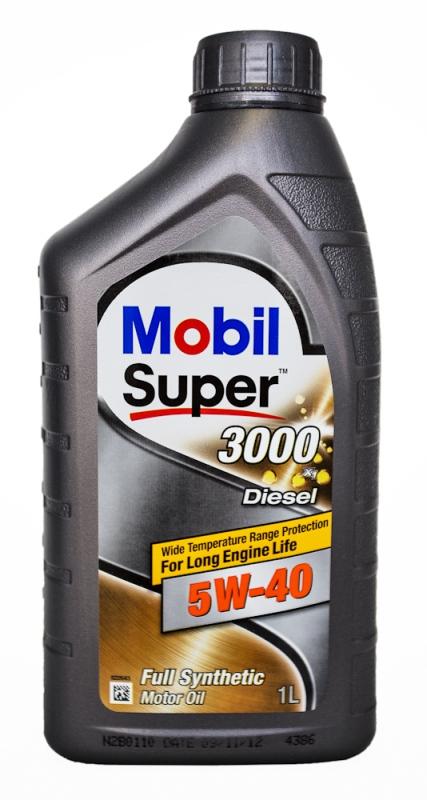 Моторное масло Mobil Super 3000 X1 Diesel, 5W-40, 1л
