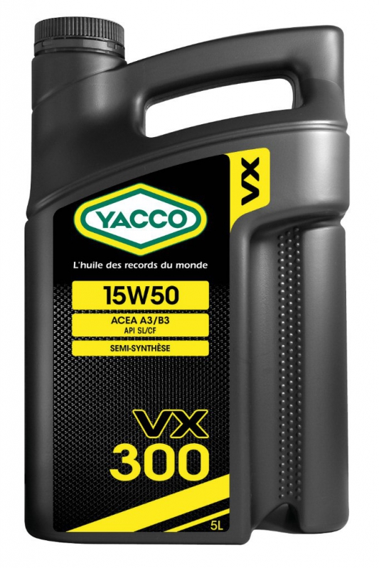 Масло моторное YACCO VX 300 п/синт. 15W50,SL/CF (5 л)