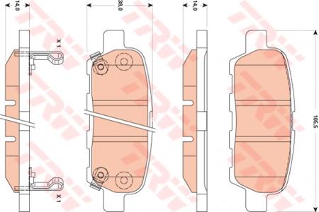 Колодки дисковые Задние, TRW, GDB3507