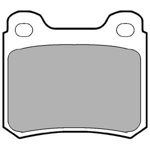 Колодки дисковые, DELPHI, LP915