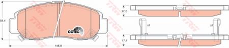 Колодки дисковые Передние, TRW, GDB3268
