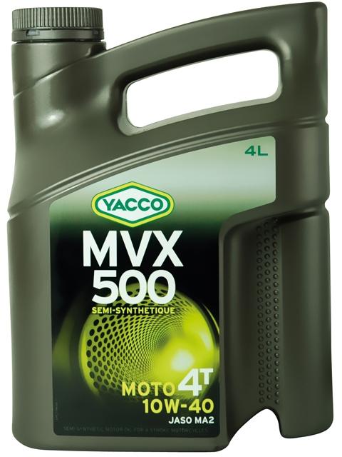 Масло для мотоциклов с 4-тактными двигателями YACCO MVX 500 4T п/синт. 10W40, SL (4 л)