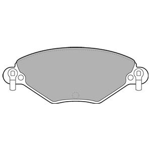 Колодки дисковые, DELPHI, LP1654