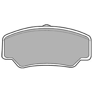Колодки дисковые, DELPHI, LP488
