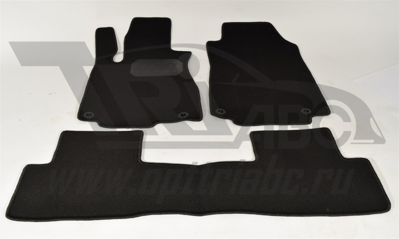 Коврики салона текстильный Honda CR-V (2012-) (Велюр, полиамид)(подпятник п/у)(черные), NPA11VTE3002