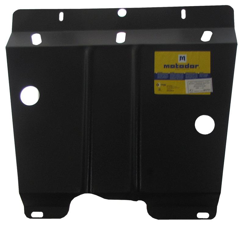 Защита картера двигателя, КПП Renault Clio II (B/C/SB0) 1999-2005 V= все (сталь 2 мм), MOTODOR01711