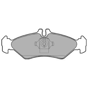Колодки дисковые, DELPHI, LP1595