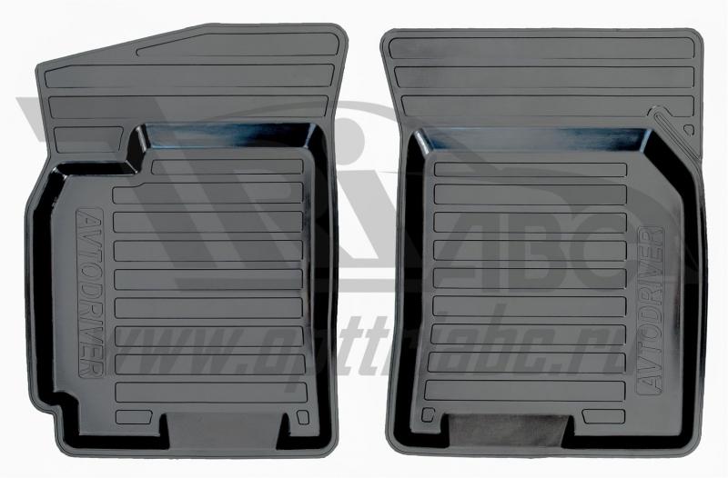 Коврики салона резиновые с бортиком для Chevrolet Lacetti (2004-) (2 передних), ADRPRO0152