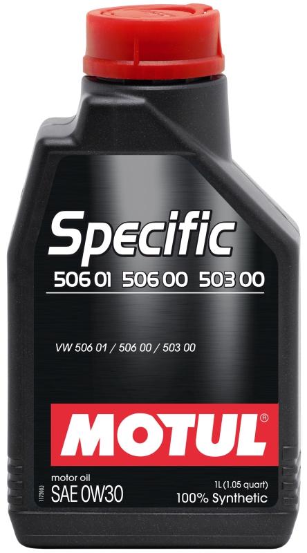 Моторное масло MOTUL Specific VW 506.01-506.00-503.00, 0W-30, 1л, 101169