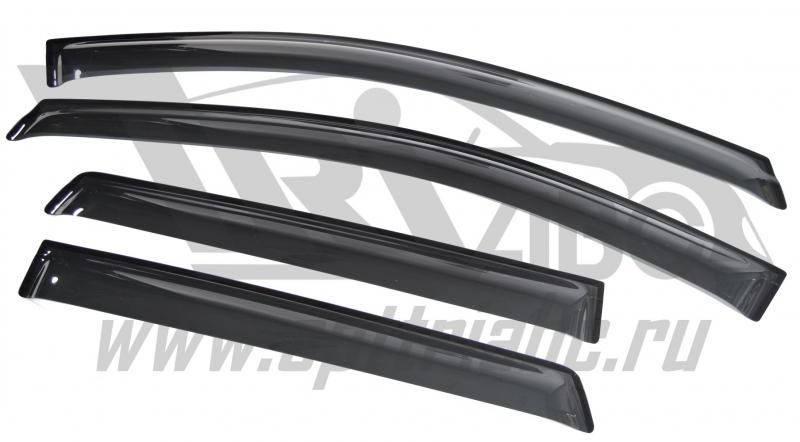 Дефлекторы боковых окон Ford Edge (2014-) (4шт.) (темн.), SFOEDG1032
