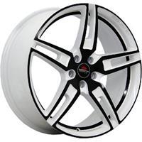 Колесный диск Yokatta MODEL-21 6x15/4x100 D56.1 ET50 белый +черный+черная полоса внутри (W+B+BSI)
