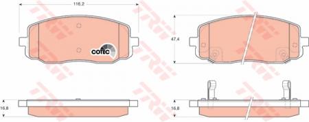 Колодки дисковые Передние, TRW, GDB3369