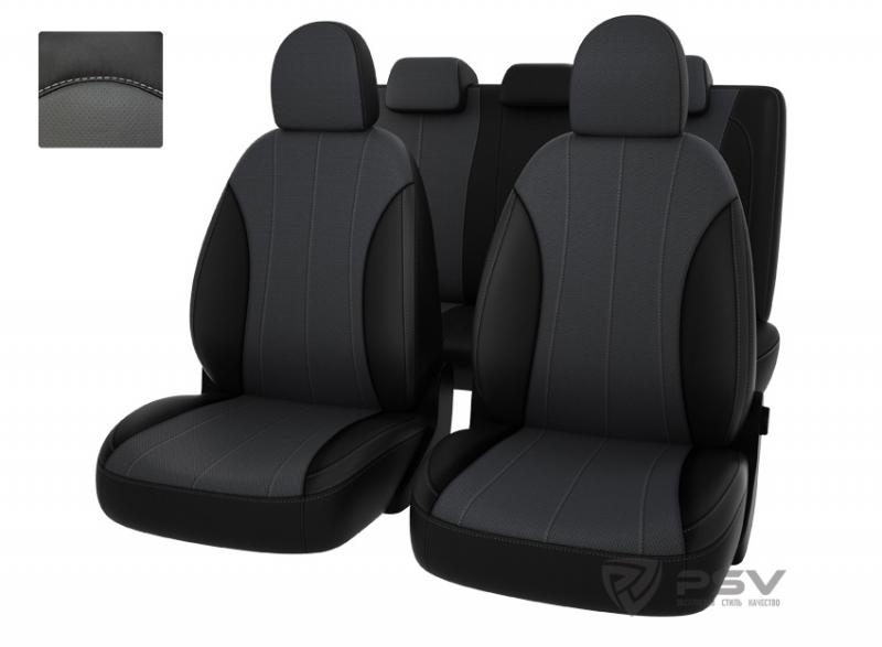 """Чехлы Hyundai i30 12-> чер-сер экокожа """"Оригинал"""", 121372"""